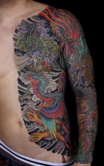 Dragon and Phoenix Tattoos