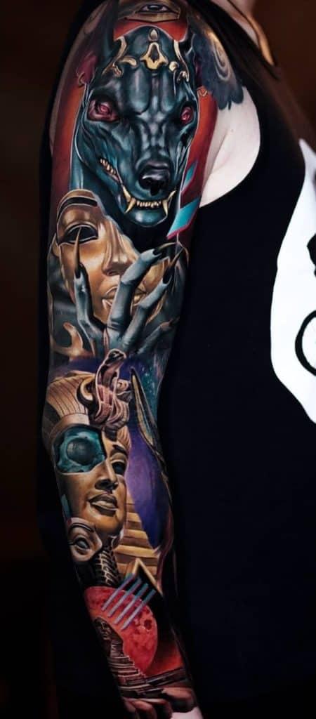 Egyptian Sleeve Tattoo