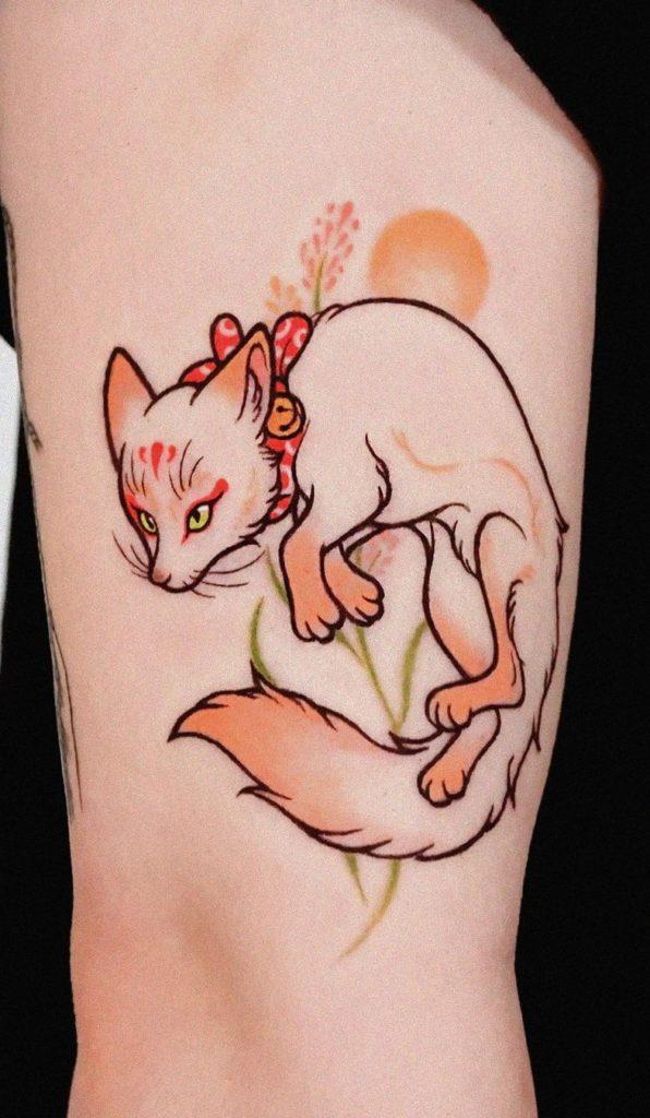 Feminine Kitsune Tattoo