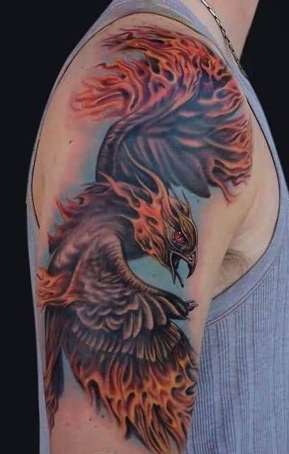 Flaming Phoenix Tattoo