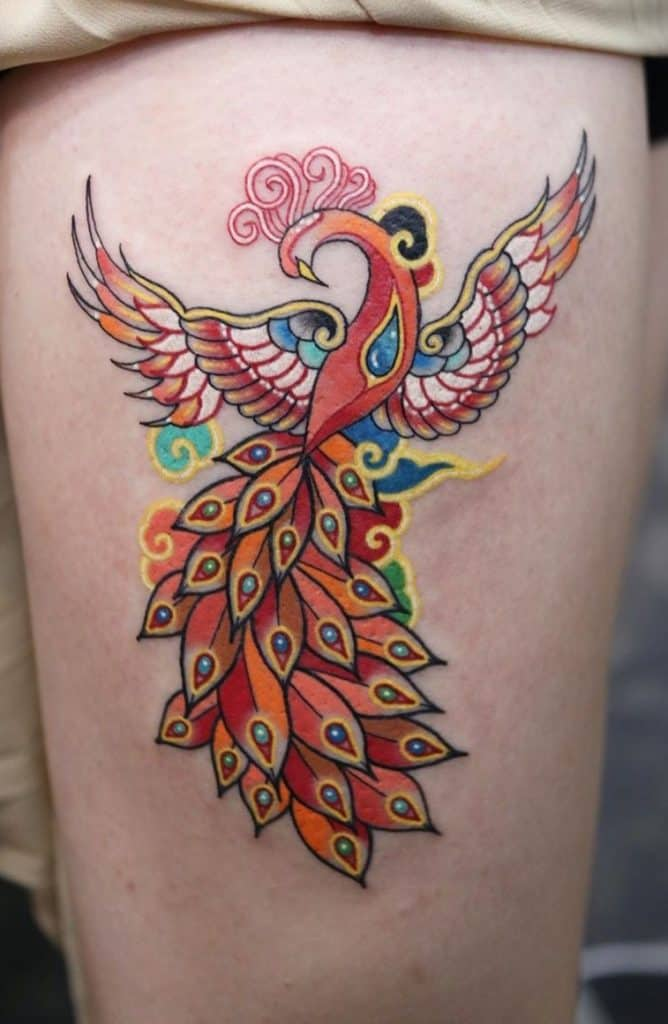 Flying Phoenix Tattoo