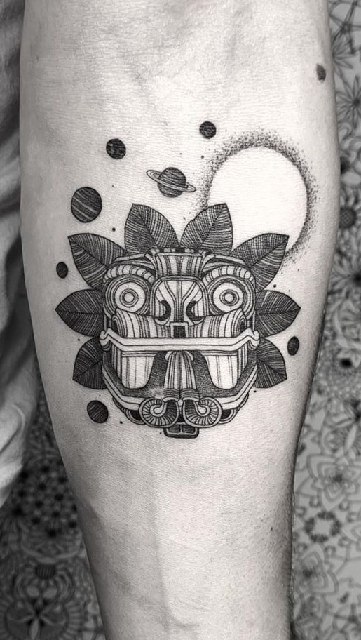 Forearm Quetzalcoatl Tattoo