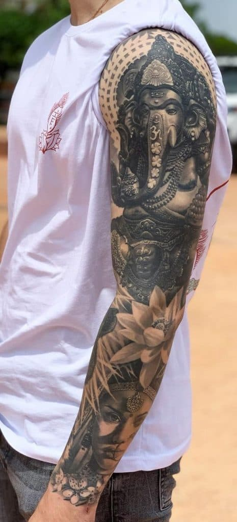 Ganesha Tattoo Sleeve
