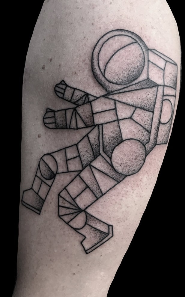Geometric Astronaut Tattoo