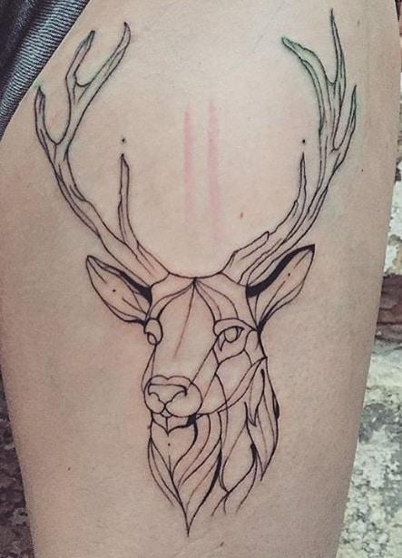Geometric Stag Tattoo