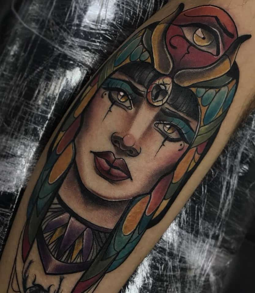 Neo-traditional Isis Tattoo