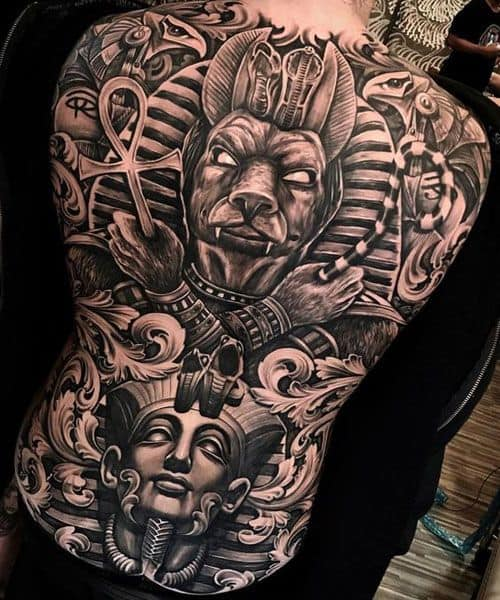Large-scale Egyptian Tattoo