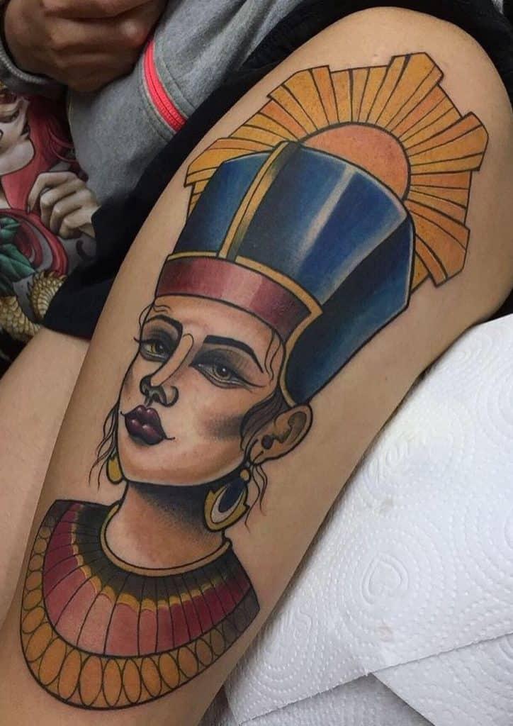 Illustrative Nefertiti Tattoo