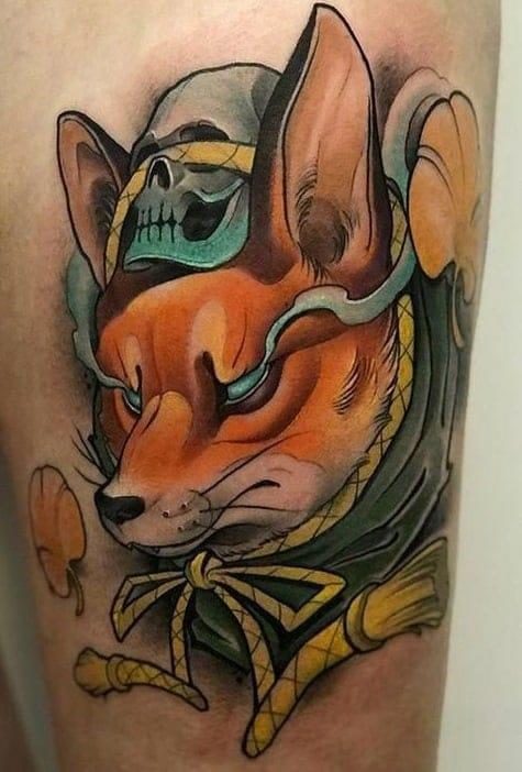 Neo-Japanese Kitsune Tattoo