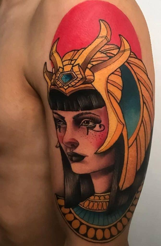 Neo-traditional Egyptian Tattoo