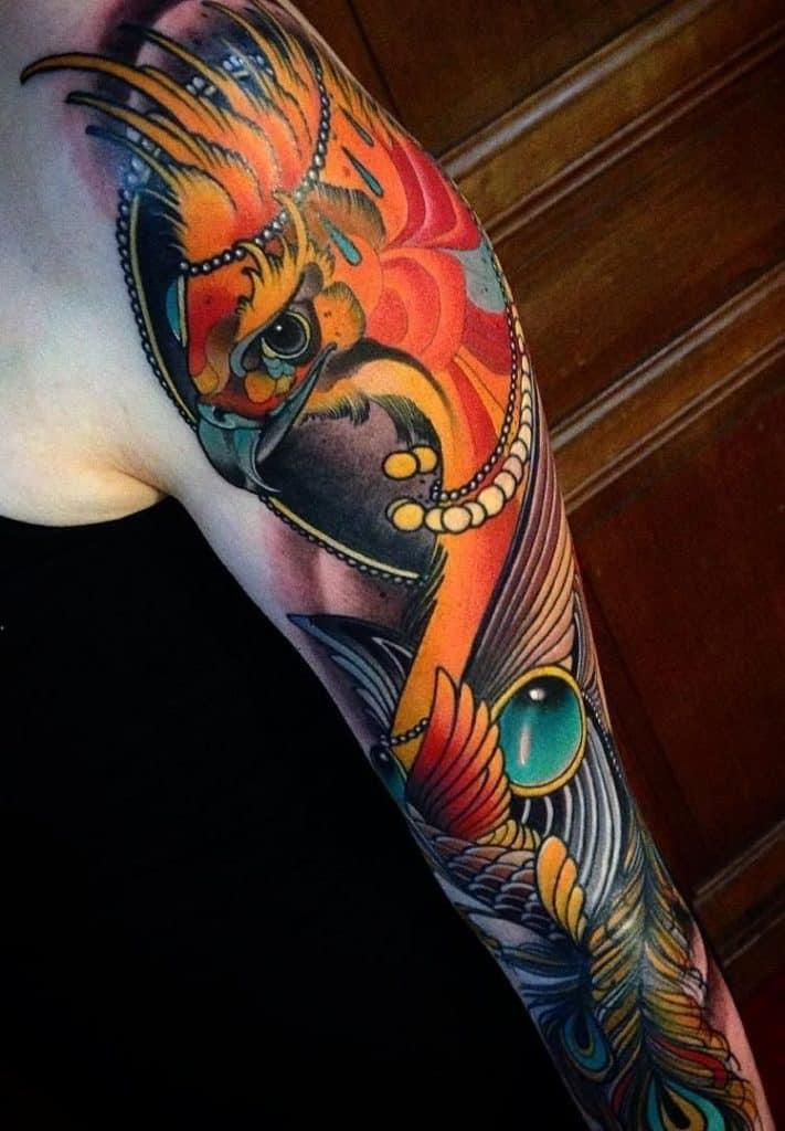 Neo-traditional Phoenix Tattoo