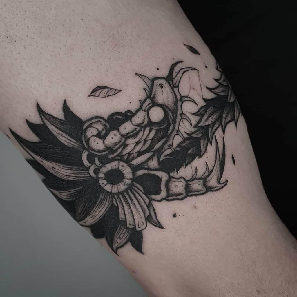 Ouroboros Quetzalcoatl Tattoo
