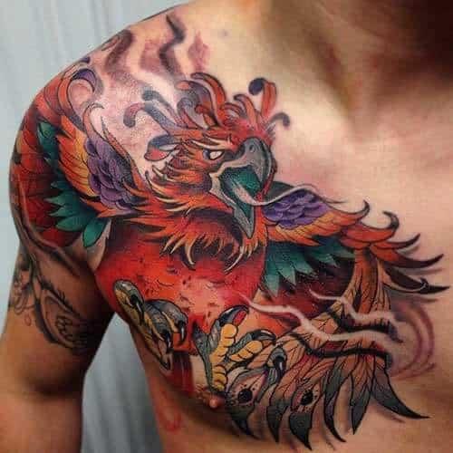 Phoenix Tattoo Chest