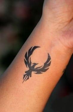 Phoenix Tattoo on Wrist