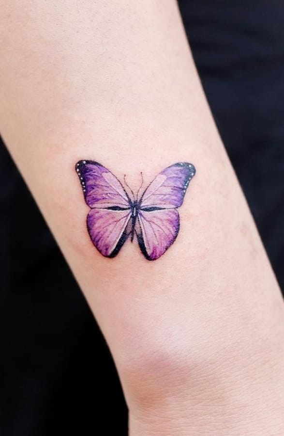 Purple Butterfly Tattoo