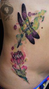 Purple Dragonfly Tattoo