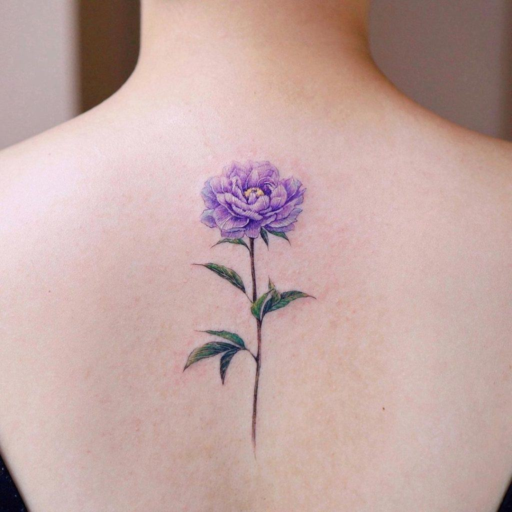Purple Flower Tattoo