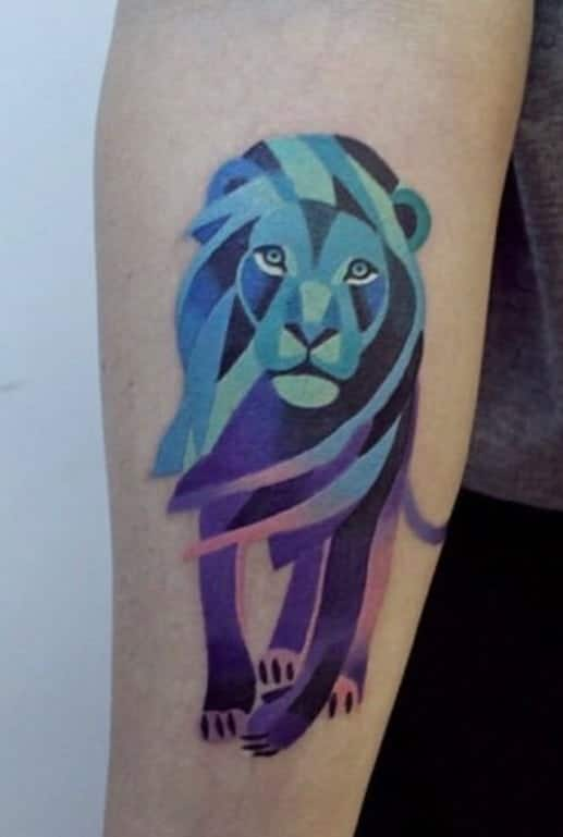 Purple Lion Tattoo
