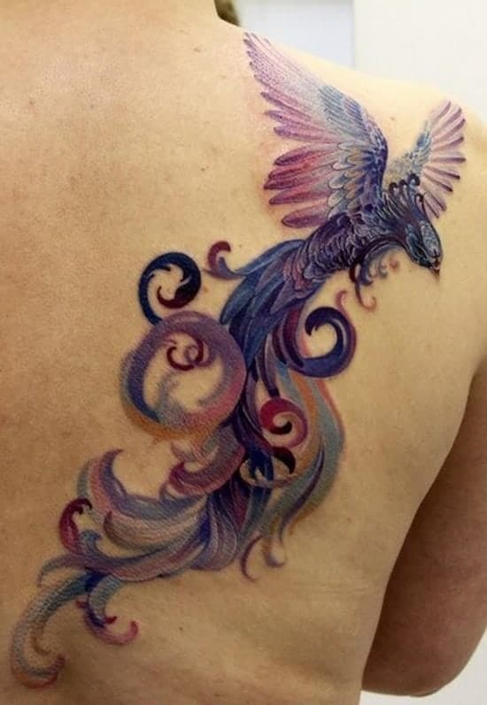 Purple Phoenix Tattoo