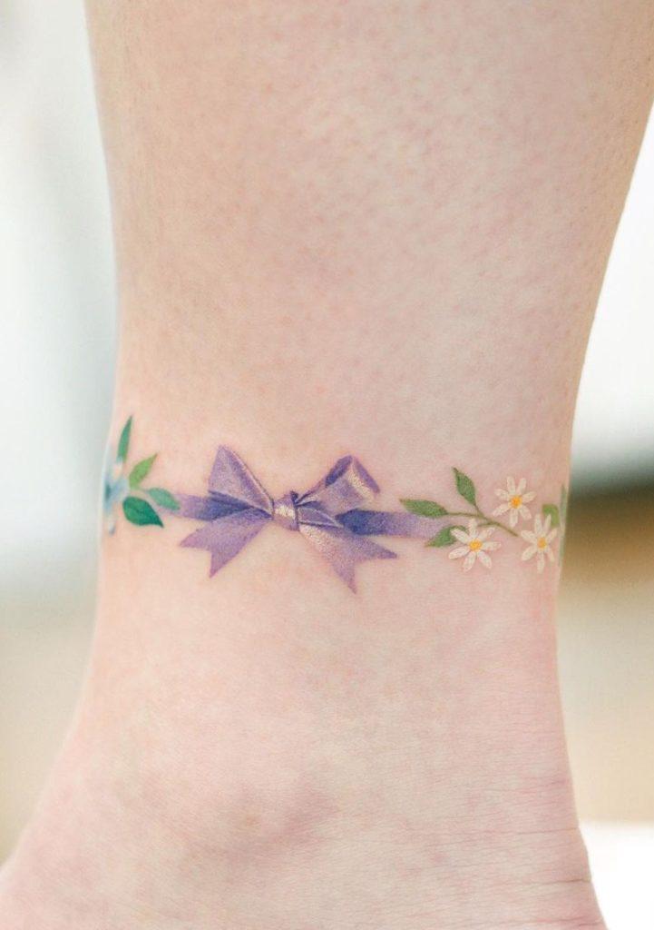 Purple Ribbon Tattoo