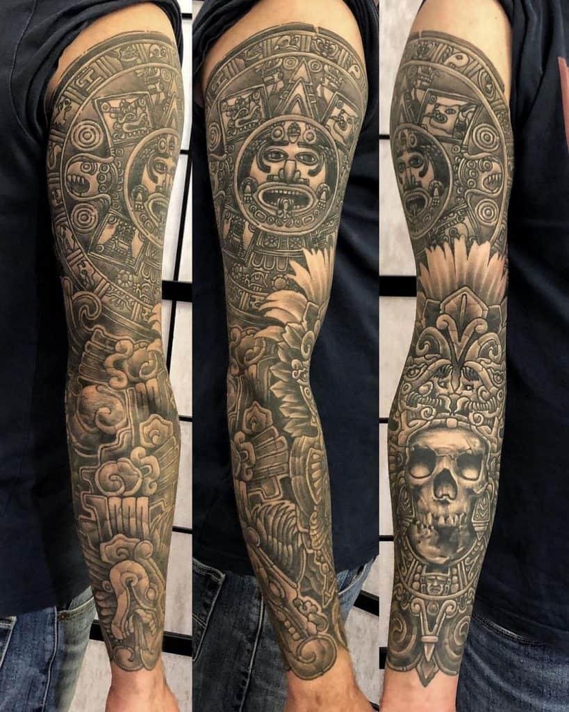 Quetzalcoatl Tattoo Sleeve