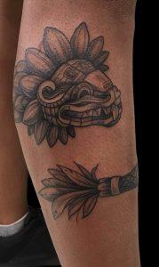 Quetzalcoatl Tattoo on Leg
