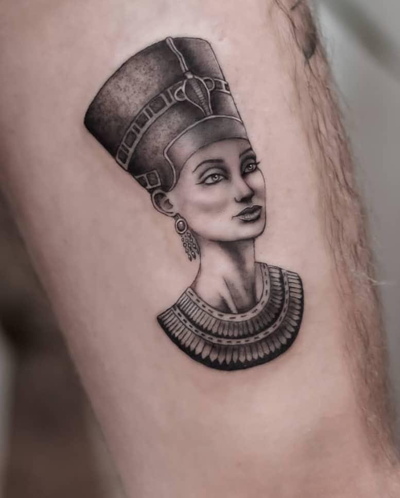 Small Nefertiti Tattoo
