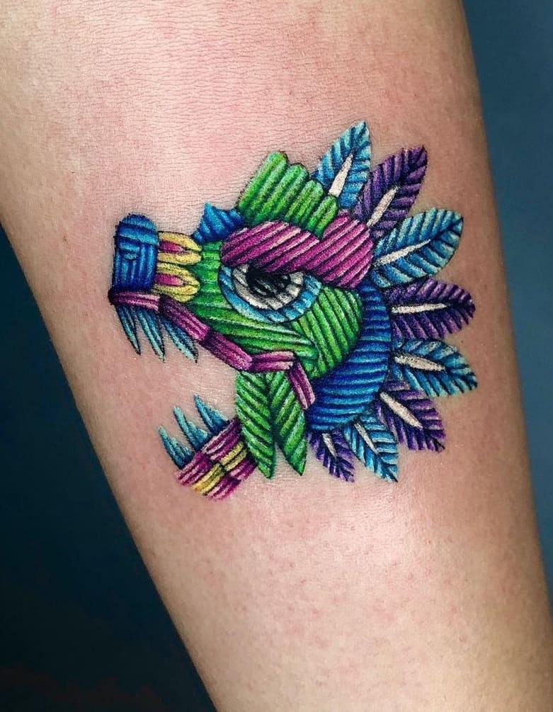 Small Quetzalcoatl Tattoo