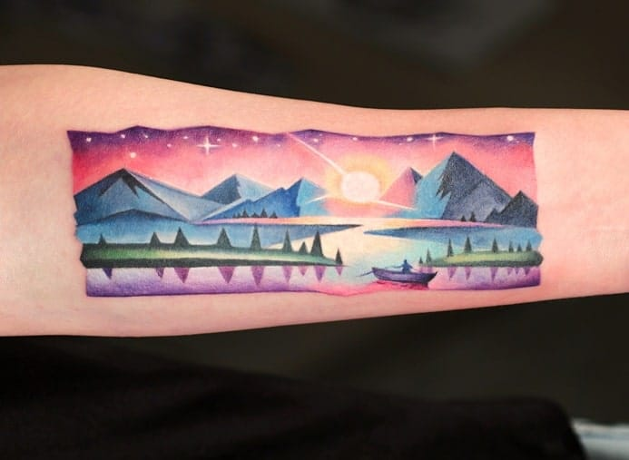 Sunset Tattoo