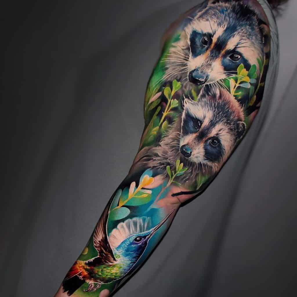 Animal Tattoo Sleeve