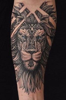 Aztec Lion Tattoo