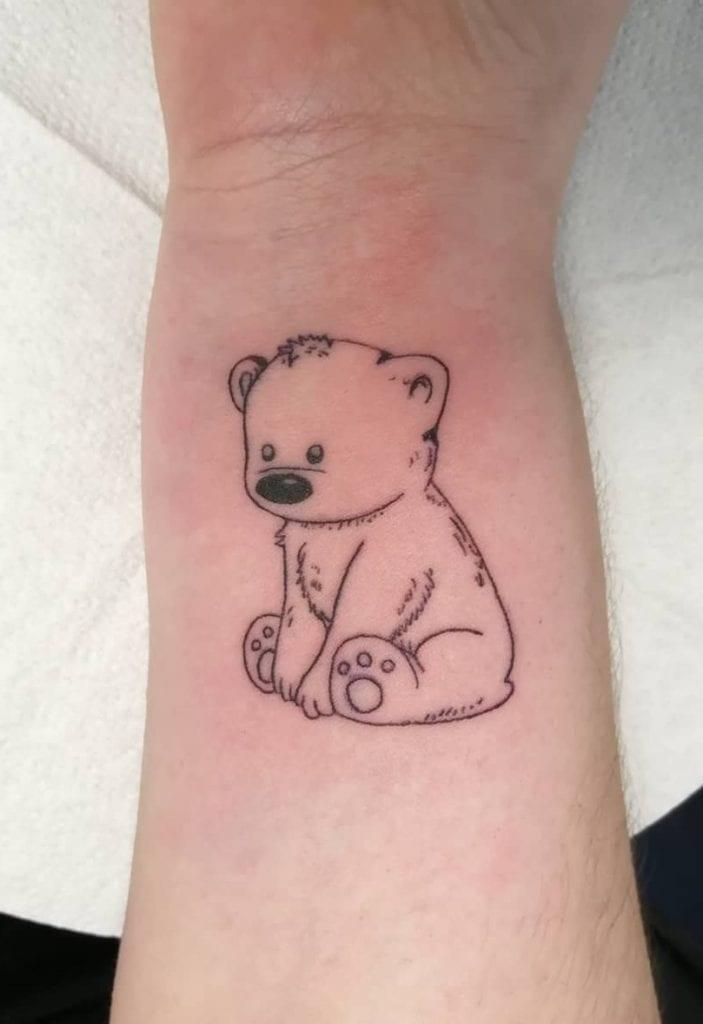 Baby Polar Bear Tattoo