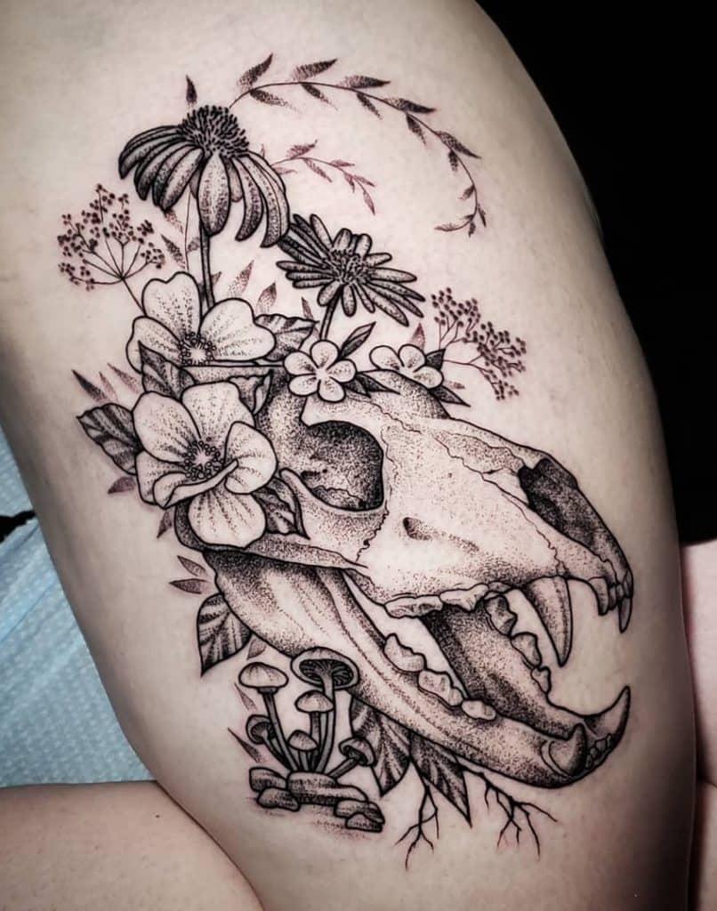Bear Skull Tattoo