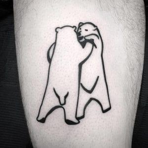 Blackwork Polar Bear Tattoo