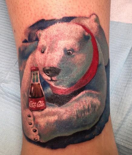 Coca Cola Bear Tattoo