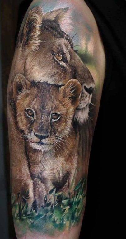 Female Lion Tattoo
