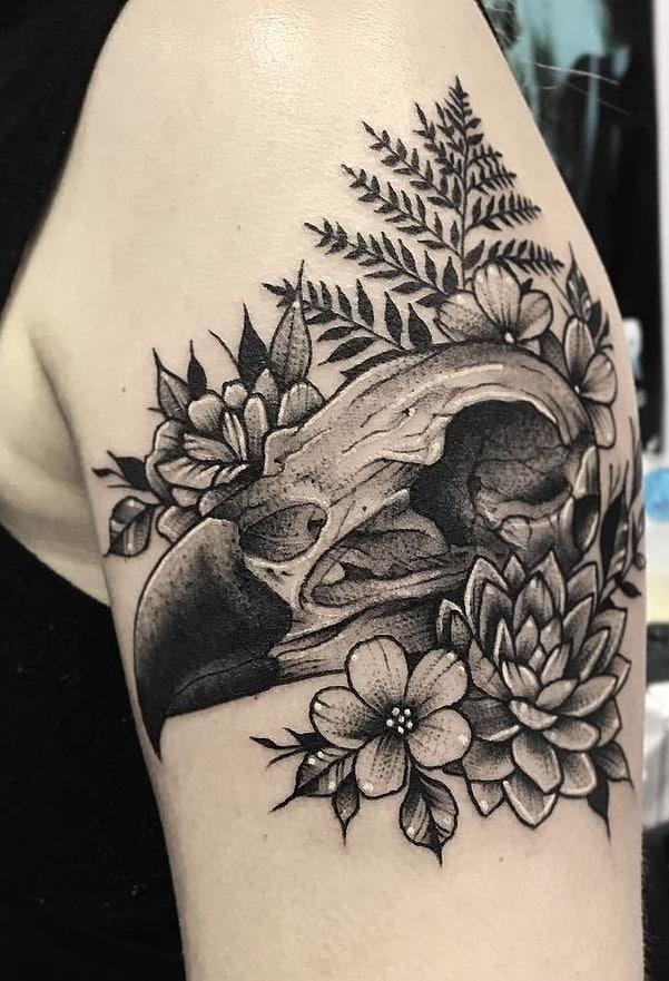 Hawk Skull Tattoo