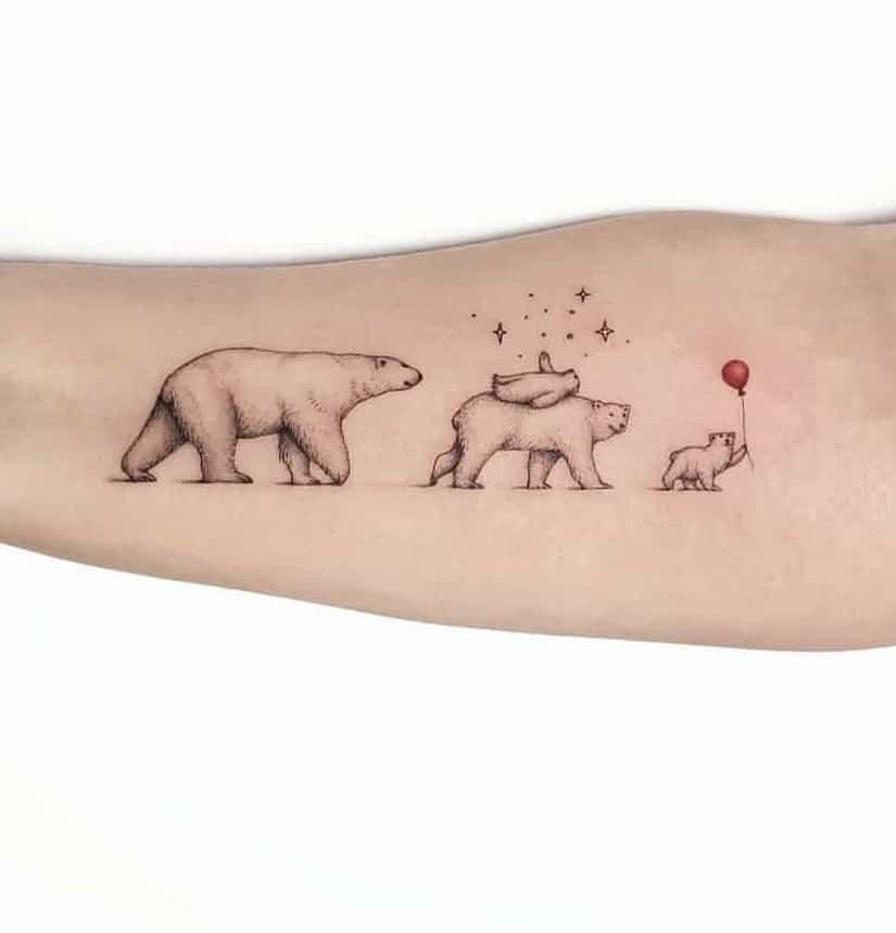 Minimalist Polar Bear Tattoo