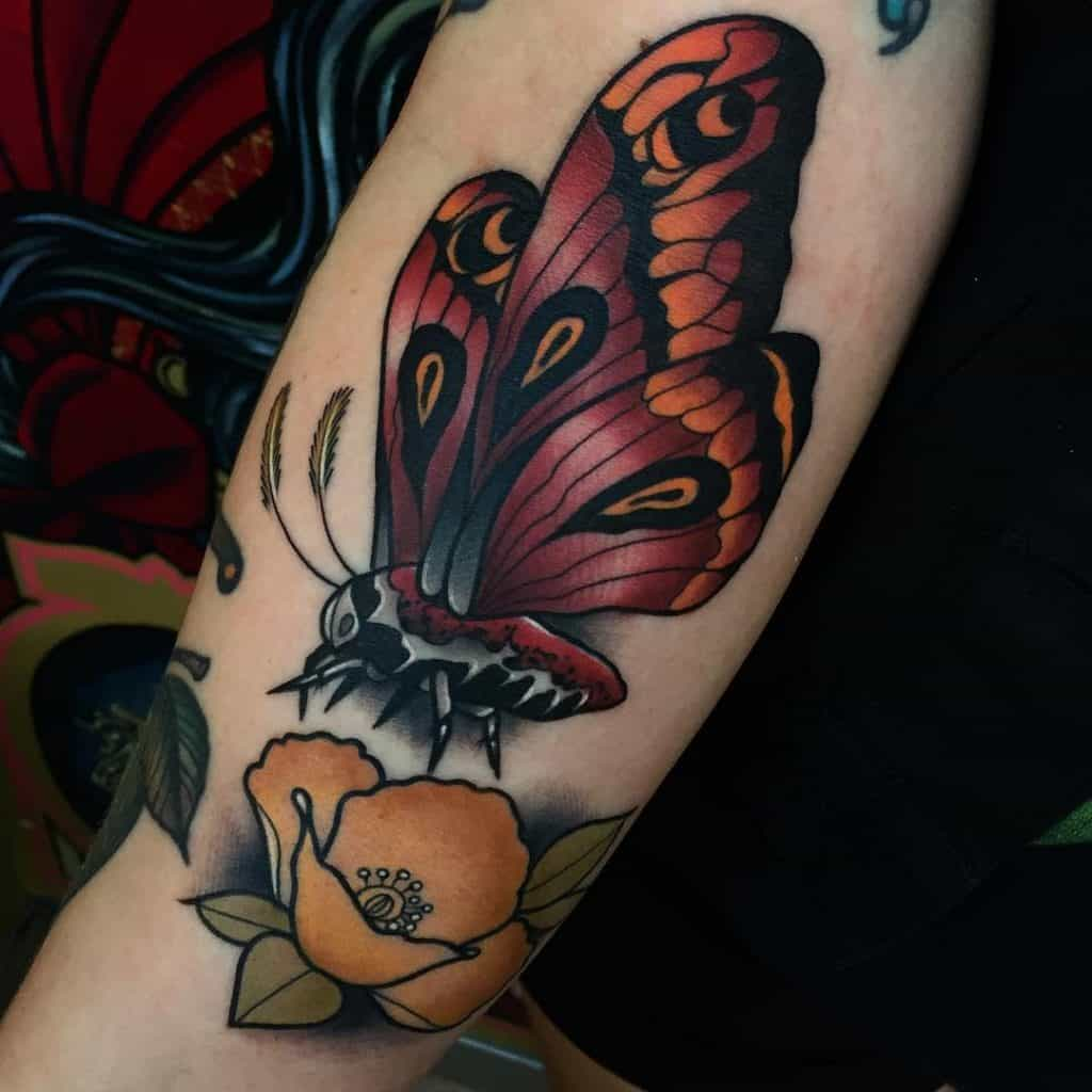 New School Butterfly Tattoo