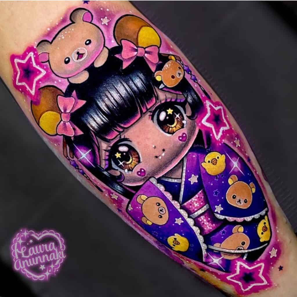 New School Kokeshi Tattoo