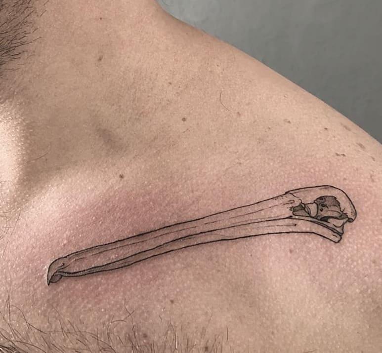 Pelican Skull Tattoo