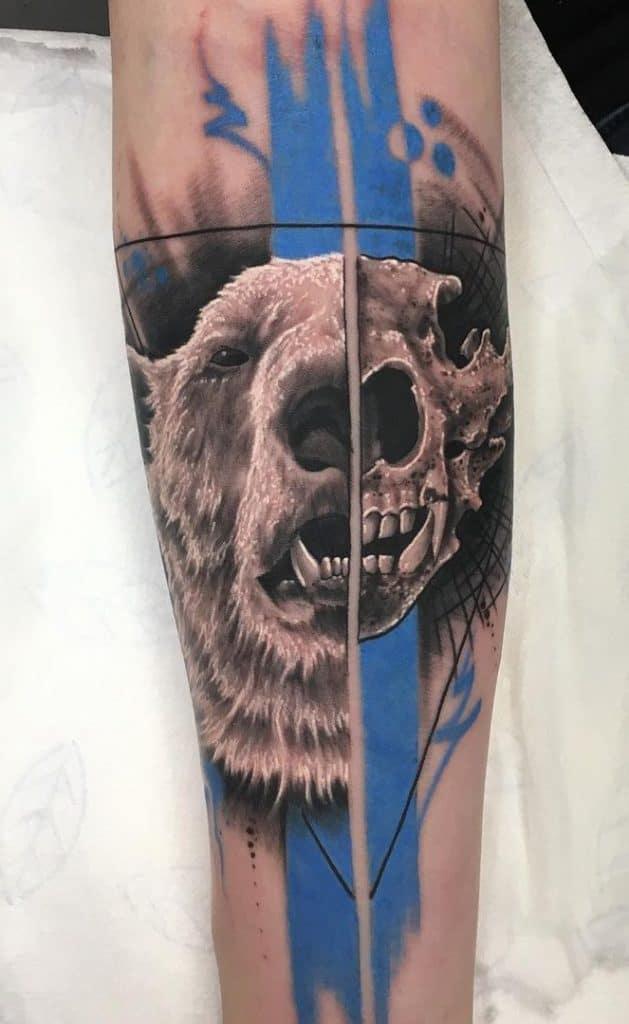 Polar Bear Skull Tattoo