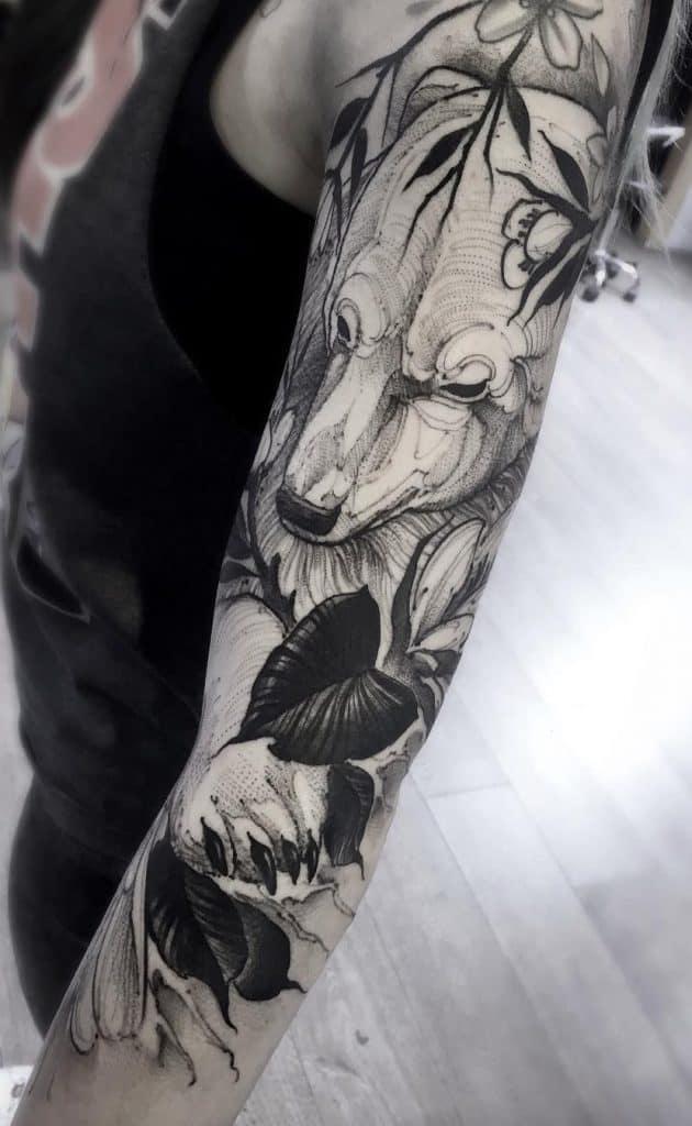 Polar Bear Sleeve Tattoo