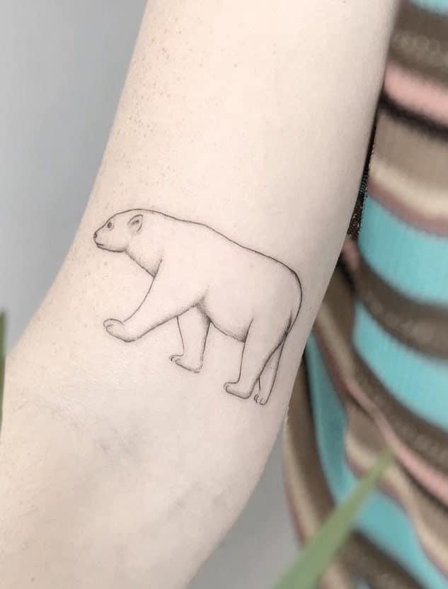 Simple Polar Bear Tattoo