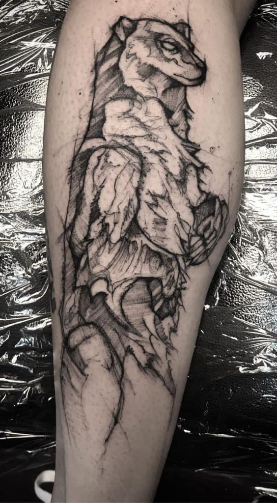 Sketchy Polar Bear Tattoo