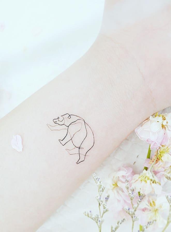Small Polar Bear Tattoo