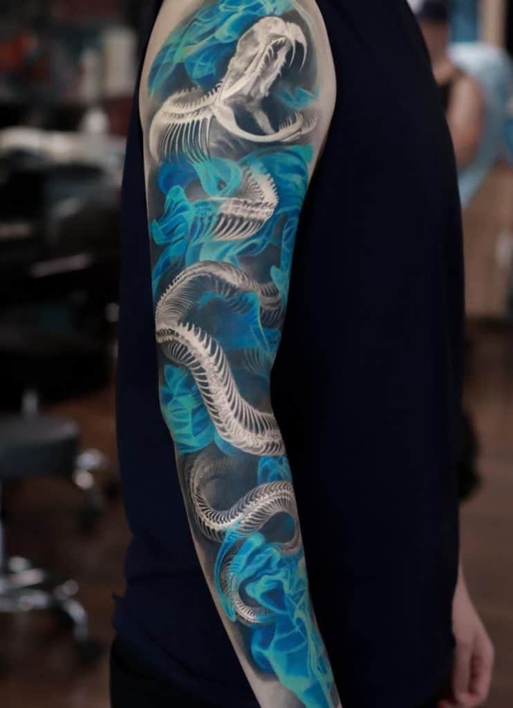 Snake Skeleton Tattoo