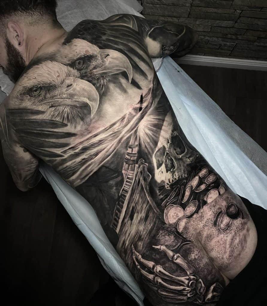 Bald Eagle Tattoo on Back