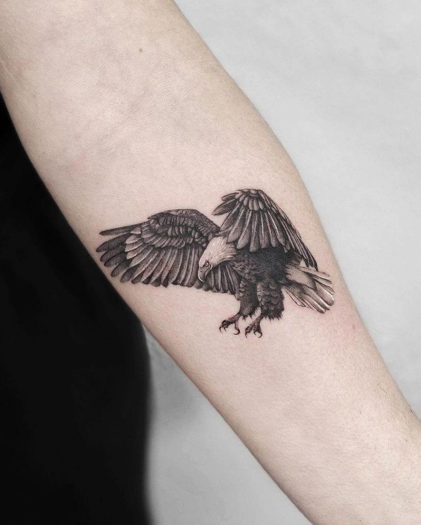 Bald Eagle Tattoo on Forearm