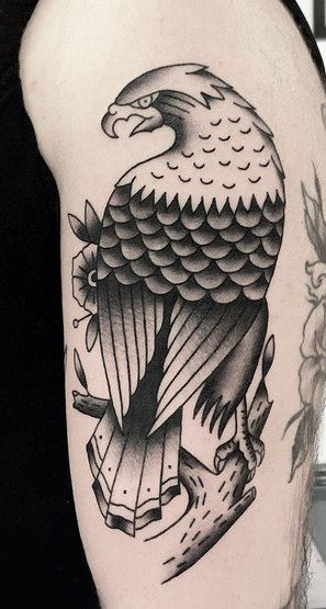 Bald Eagle Tattoo on The Arm